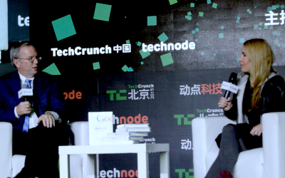 Google never left China. And more learnings from Eric Schmidt in TechCrunch Beijing