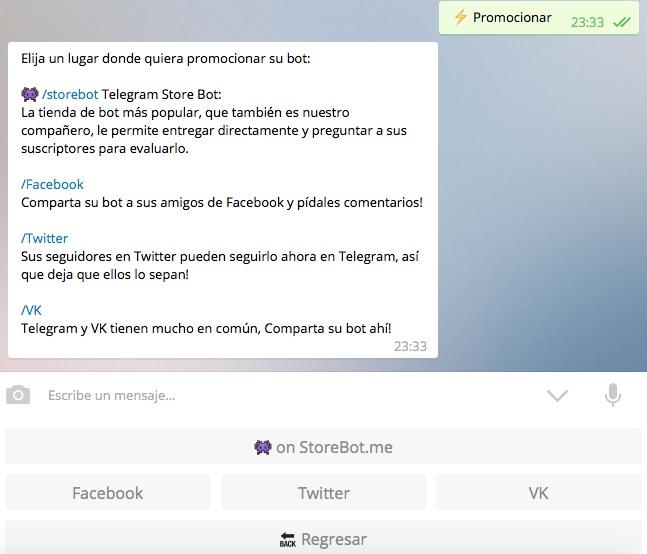 Promociona tu bot de Telegram