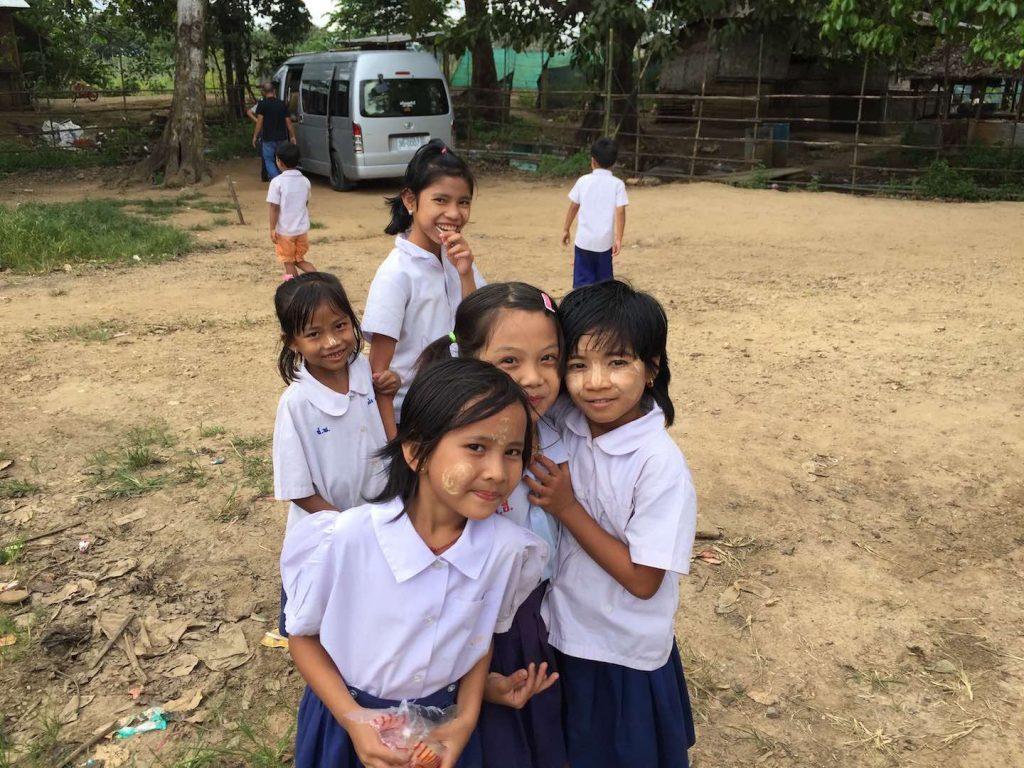 Migrant kids at school