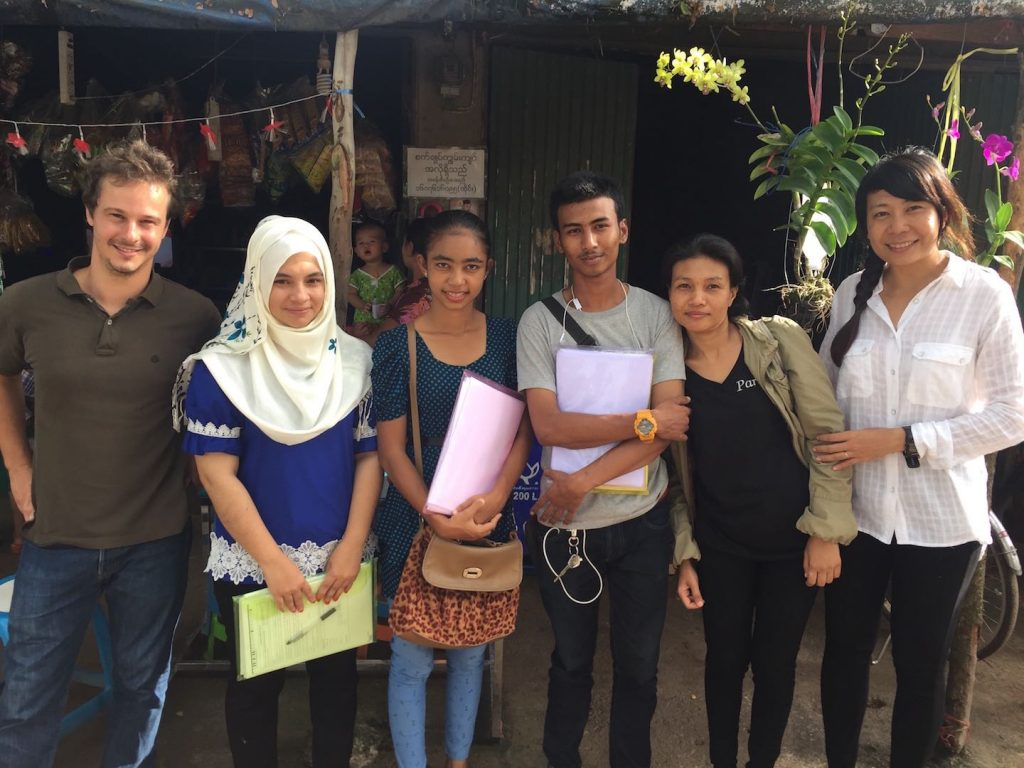 Part of the Dreamlopments team in Mae Sot during survey