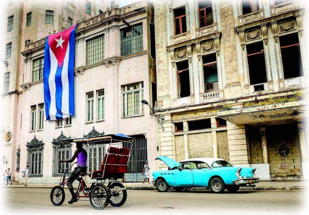 Bicitaxi en Cuba