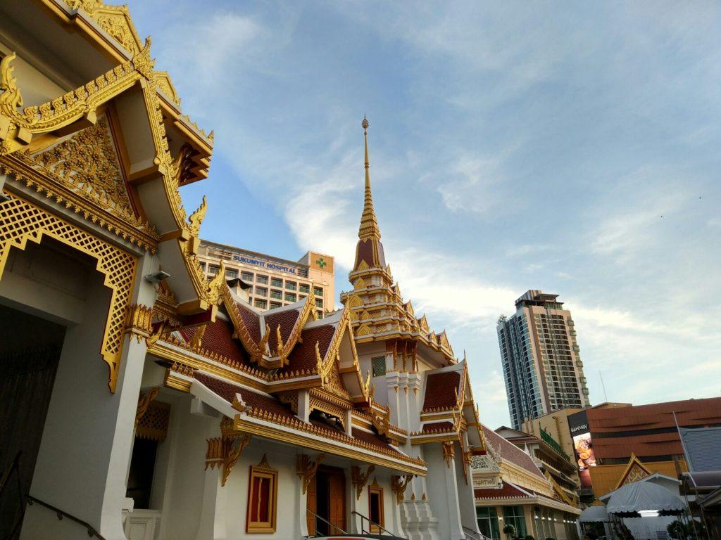 El Templo detrás de casa. Ekkamai. Bangkok